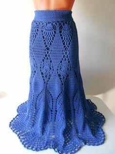Oi amigas(os)!   Atendendo à pedido vou postar uma linda saia em croche Victoria's Secrets:                              GRÁFICOS aqui.   ...