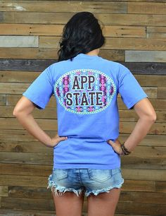 This cute new Comfort Colors App State shirt is great for game day, class, or any time you want to show your love for the great Appalachian State University. Go Mountaineers!
