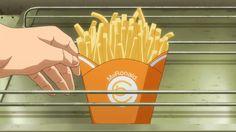 """MgRonald"" fries! Hataraku Maou-sama, Episode 1"