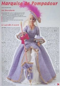 Barbie is going out with a beautiful dress that has diagram