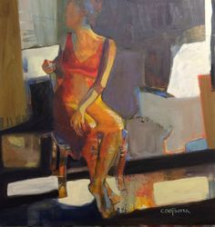 Melinda L. Cootsona - Melinda Cootsona The Turn an abstract figurative painting at Seager Gray Gallery in Mill Valley California in the San Francisco Bay Area.
