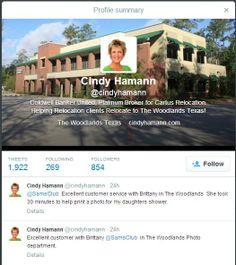 Sam's Club actual Twitter user