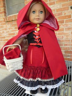 18 Doll Clothes Little Red Riding Hood Fairy by Designed4Dolls, $34.95