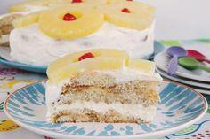 Tarta de piña y crema de queso - MisThermorecetas