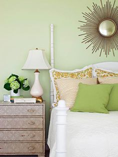 When choosing wall colors, find versions of your favorite colors that are muted with gray: http://www.bhg.com/decorating/color/colors/best-color/?socsrc=bhgpin051814mutebutton&page=5
