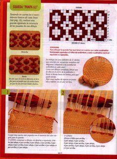 Wuitral Kapen: Guardas en Telar de Peine (Telar Maria) Inkle Loom, Loom Weaving, Hand Weaving, Macrame Knots, Weaving Patterns, Tapestry Weaving, Weaving Techniques, Rug Hooking, Handicraft