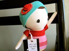 Todd's n' Socks Cloth doll by Mend by Ruby by MendbyRubyGrace, $35.00