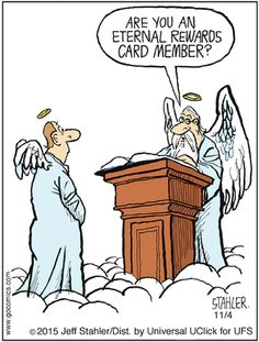 Today on Moderately Confused - Comics by Jeff Stahler Funny Cartoon Pictures, Cartoon Jokes, Funny Cartoons, Funny Comics, Funny Jokes, Cartoon Fun, Funny Church Signs, Church Humor, Funny Signs