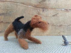 VERKAUFT Nadel Filz Welsh Terrier von DrunkenPonyRanch auf Etsy