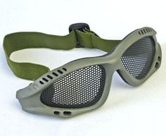 green Tactical Equipment Paintball Metal Wire Mesh Airsoft Safety Goggle >>> You can get more details by clicking on the image.