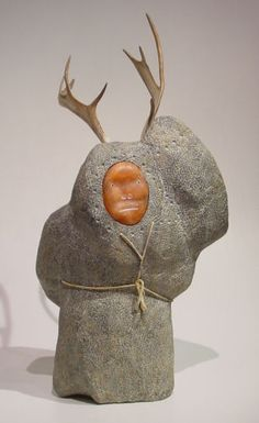 """""""Shaman Caribou Hunt"""" by Mattiusi Iyaituk, Inuit artist (M61204)"""