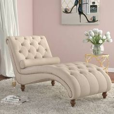 Best quality online Yarmouth Chaise Tufted Lounge Chair by House of Hampton Velvet Chaise Lounge, Lounge Sofa, Lounge Furniture, Living Room Furniture, Living Room Decor, Chaise Lounge Bedroom, Chaise Lounges, Country Furniture, Furniture Decor