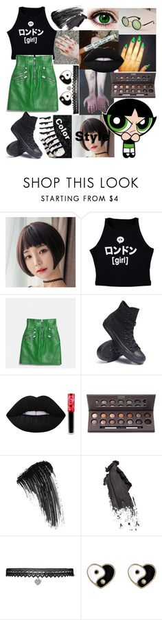 """Buttercup"" by dappershadow ❤ liked on Polyvore featuring Illustrated People, Converse, Lime Crime, Laura Geller, Eyeko, Bobbi Brown Cosmetics, Betsey Johnson and Accessorize"