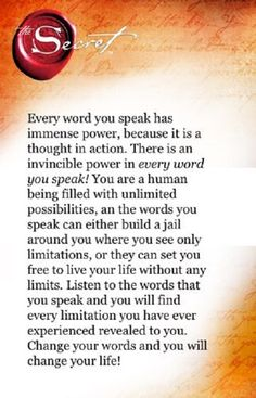 WordS & emotions have power