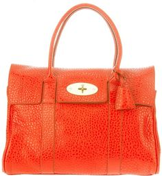 b244cf364948 Mulberry Bayswater Tote in Orange Mulberry Scarf