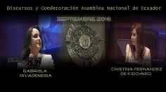 Cristina Fernandez :Condecoración y discurso  en Asamblea Nacional de Ec...