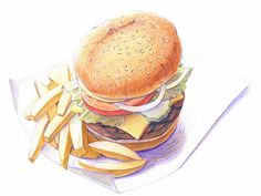 drawings+of+food | ... food pictures, Colored Pencil Drawings of Foods, Food Drawings, Food