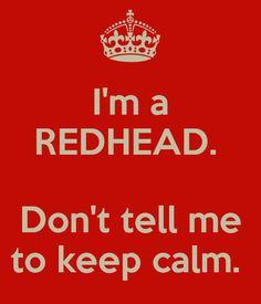 Redhead ♥.  -  I WAS a redhead!