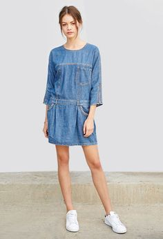 Chambray Shift Dress | Forever 21 | #thelatest