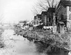 Houses in the Bronx River in 1902