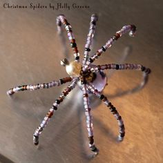 No longer available but can make one similar. Lurka Spider $8 Christmas Spiders by Holly Greene