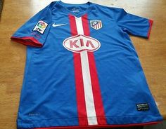 Nike Authentic Dri Fit Atletico Madrid Soccer Jersey Youth Large La Liga Futbol