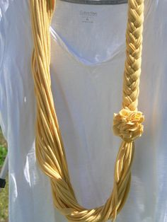 Golden yellow t shirt scarf on etsy