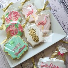 Lilly Pulitzer bridal shower cookies #lillypulitzer #lillypulitzerbridalshower