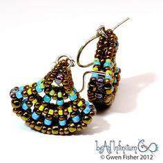 gwenbeads: Ginkgo Leaf Beaded Earrings CRAW
