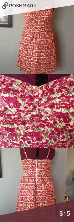 Floral print sundress Cute red floral print dress with adjustable straps, back zip, and side pockets. Elastic back for perfect fit! American Eagle Outfitters Dresses Midi