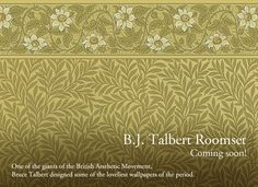 The new B. J. Talbert Roomset by Bradbury & Bradbury Wallpapers, available September 1, 2012. #bradburywallpaper