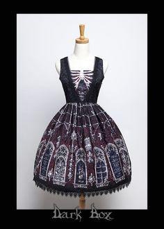 Dark Box +Kostelík Vech savtych a kostnicí+ Gothic Lolita Jumper Dress Version I
