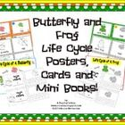 This is a set of posters, word cards and mini books for the teaching of animal life cycles. This is perfect for your science walls or they can be a...