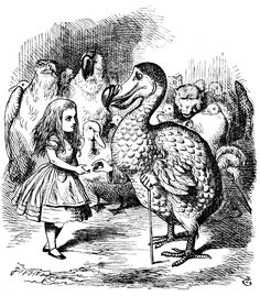 Alice and Dodo Lewis Carroll's Alice's Adventures in Wonderland, drawn by John Tenniel.