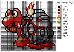 Crochet Fanatic: Pokemon 211-221: Qwilfish, Scizor, Shuckle, Heracross, Sneasel…