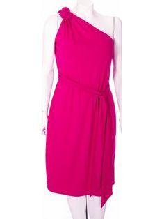 Asymmetric Dress in Raspberry - This dress has it all!