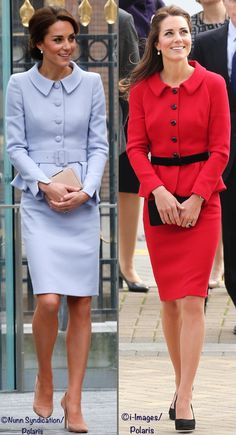 Several noted the similarity in design between today's suit and the Luisa Spagnoli worn in New Zealand in 2014. (As well as for an Air Cadets photo in 2015 and at the University of St. Andrews in 2011.)