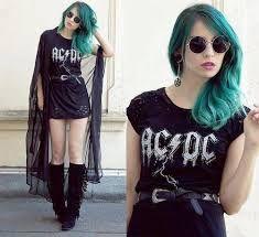 Resultado de imagem para moda rock