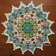 Spring Brilliance Doily By Julia Hart - Free Crochet Pattern - (ravelry)