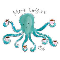 Good Morning! #coffee #cafeblond #coffeeandcake #breakfast #friday #octopus #blondamsterdam