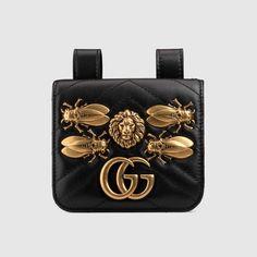e67aa993a221 GG Marmont animal studs belt accessory Gucci Purses, Gucci Bags, Gucci  Handbags, Gucci
