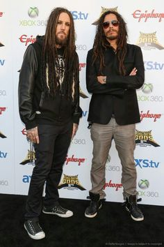 Head and Munky of Korn. I used to love Head but wtf is up with that eye makeup? Could go without it!