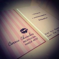 Carrie Churches - Chesterfield, Derbyshire :: Business Card Design & Print Ideas.  A Professional and friendly make-up artist based in Chesterfield, Carrie Specialises in wedding and evening makeup. Working for a leading brand in the makeup industry Carrie has gained experience in achieving various different looks for every occasion.  www.bimbodesign.co.uk