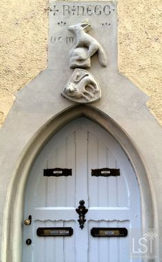Quirky door in the German town of Konstanz on the banks of Lake Constance.