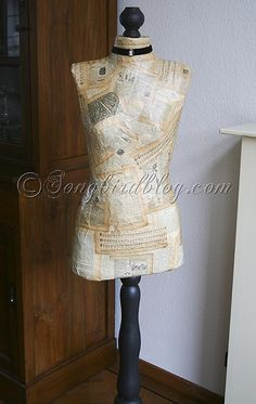 How to make a dress form   Dress form, Craft and Sewing rooms