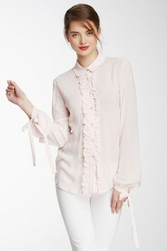 RED Valentino Ruffled Front Blouse by RED Valentino on @HauteLook