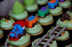 Steam Train Cupcake Landscape by TheLittleCupcakery, via Flickr