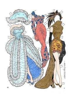 Gowns for a Holiday Paper Doll by Charles Ventura - Maria Varga - Picasa Webalbum