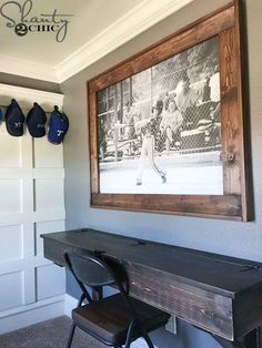 DIY Engineer Print Frame - Shanty 2 Chic - Home Decor ideas &Home Garden & Diy Home Projects, Diy Furniture, Large Picture Frames, Picture On Wood, Home Decor, Engineer Prints, Diy Picture Frames, Wood Diy, Home Diy