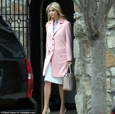 In addition, Ivanka will be attending the W20 summit, part of the G20 group of the world's most powerful nations, it was revealed on Sunday. The first daughter pictured above leaving her house Monday morning ahead of the event at the White House